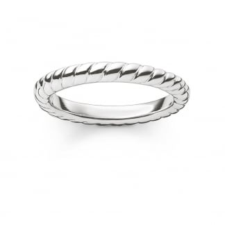 Silver Rope Twist Ring TR1978-001-12