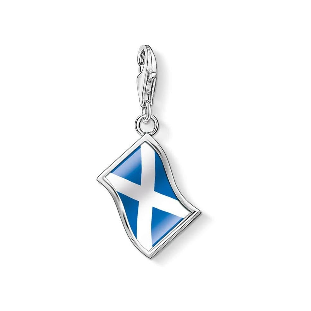 Thomas Sabo Silver Scottish Flag Charm Jewellery From