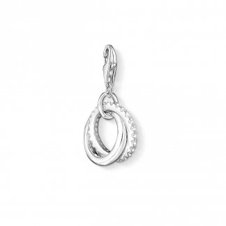 Sparkling Engagement Ring Charm 1252-051-14