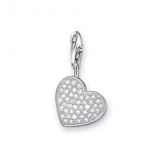 Sparkly Heart Charm 0698-051-14