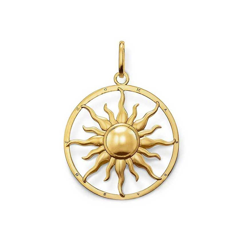 Thomas Sabo Special Edition Gold Plated Sun Pendant