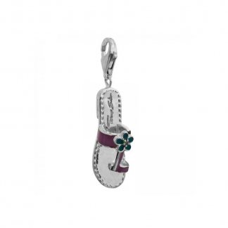 Sterling Silver Flip Flop Pendant T0139-041-13