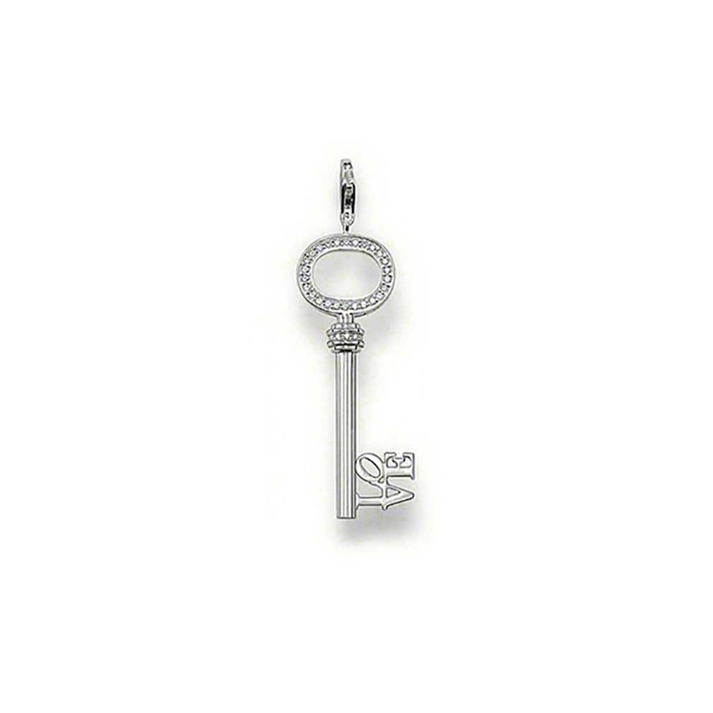 Thomas sabo stone set silver love key pendant jewellery from stone set silver love key pendant mozeypictures Choice Image