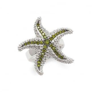 Stone Set Starfish Ring Size P.5 TR1850-051-14-56