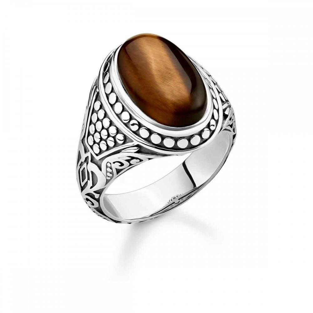 325f7bc8bce Thomas Sabo Tiger's Eye Signet Ring - Jewellery from Francis & Gaye ...