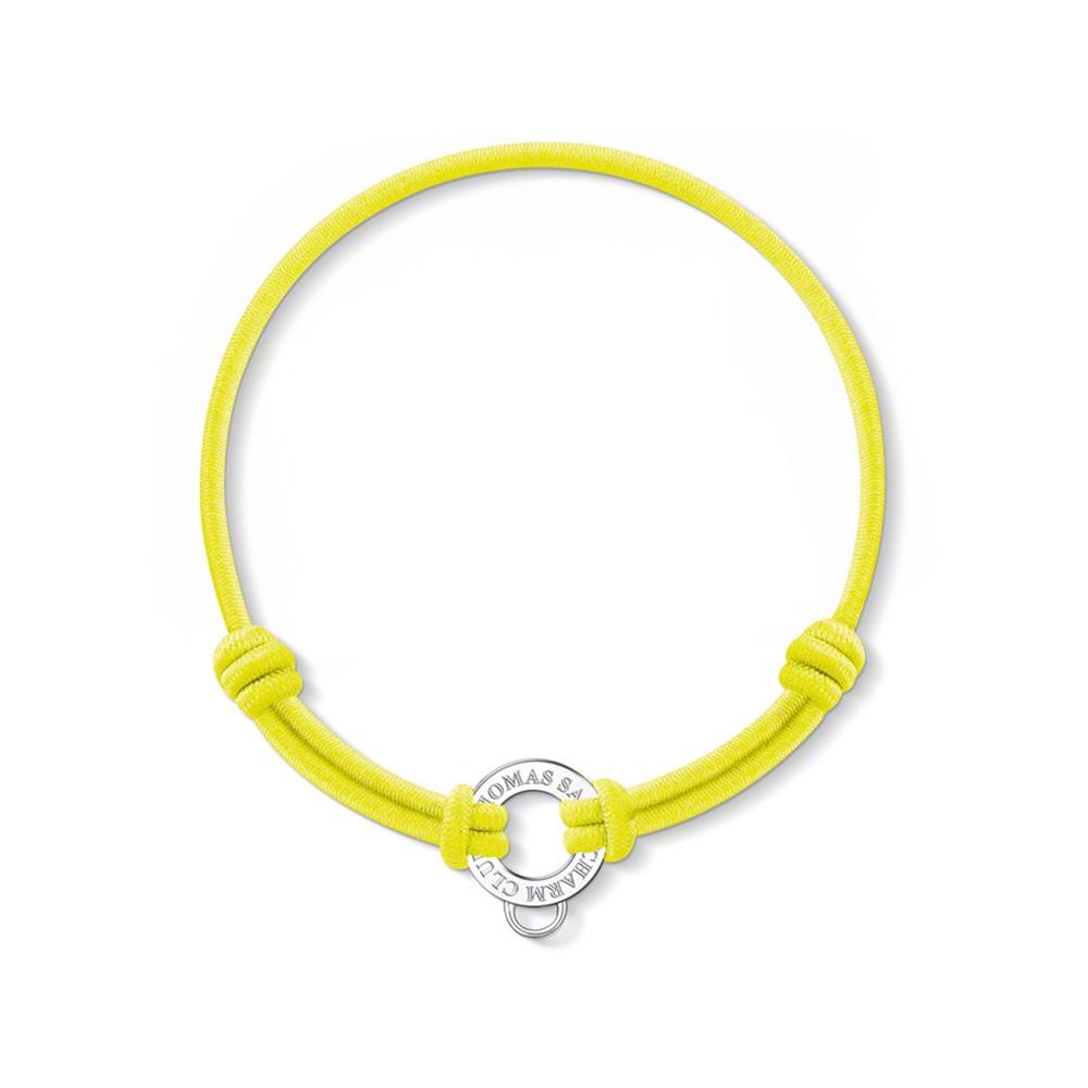 sabo yellow stretch cord charm bracelet jewellery