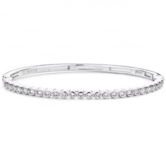 Round CZ Hinged Bangle 2828ZI