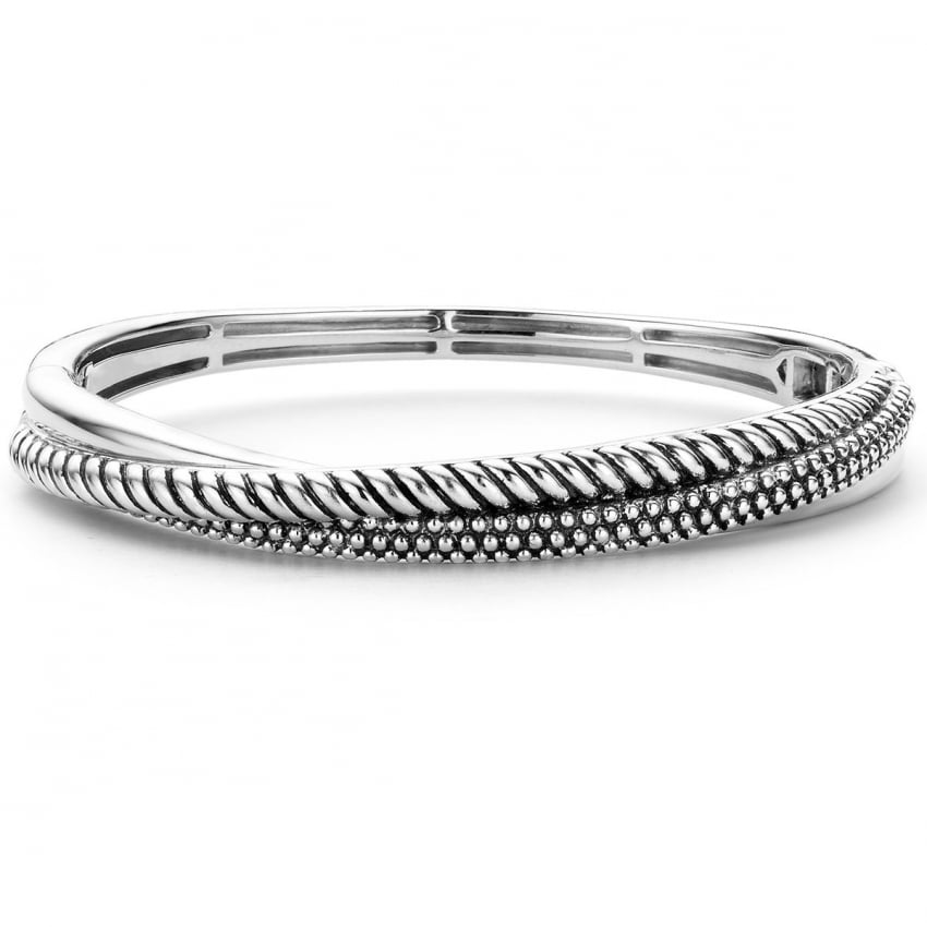 Ti Sento Silver Twisted Bangle 2815SB