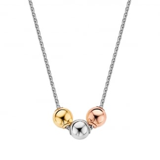 Tricolour Globes Necklace 3831TS/42