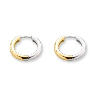 Yellow Gold Plated Silver Creole Earrings 7210SY