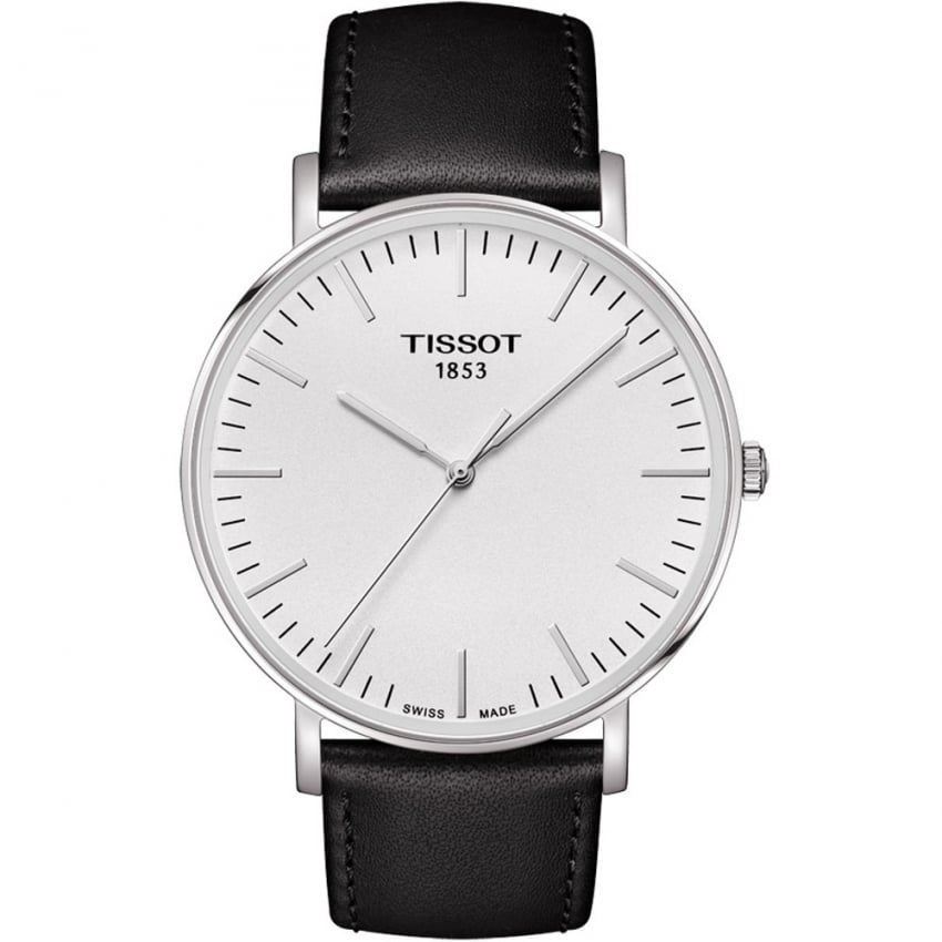 Tissot Gent's 42MM Everytime Black Leather Quartz Watch T109.610.16.031.00