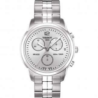 Gent's PR 100 Chronograph Steel Bracelet Watch T049.417.11.037.00