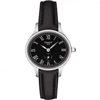 Ladies Bella Ora Piccola Black Leather Quartz Watch T103.110.17.053.00