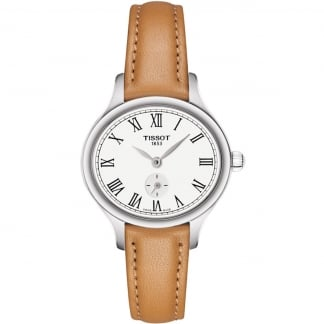 Ladies Bella Ora Piccola Tan Leather Quartz Watch T103.110.16.033.00