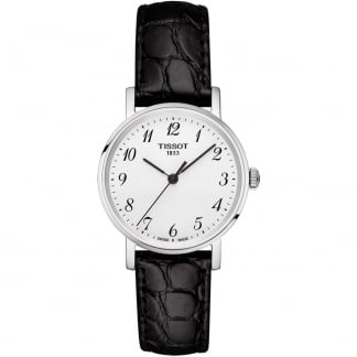 Ladies Black Leather Everytime Quartz Watch