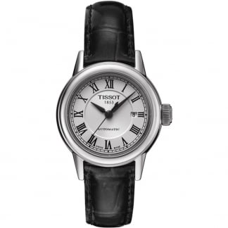 Ladies Carson Automatic Black Leather Strap Watch