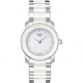 Ladies Cera Steel & Ceramic Diamond Watch