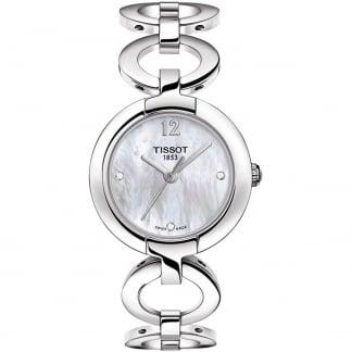 Ladies Pinky Diamond Set Circle Link Watch T084.210.11.116.01