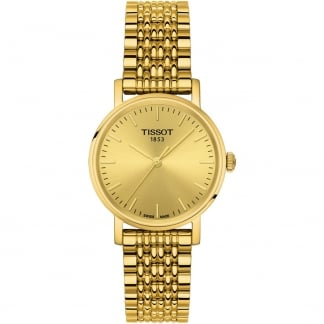 Ladies Everytime Gold Tone Quartz Watch T109.210.33.021.00