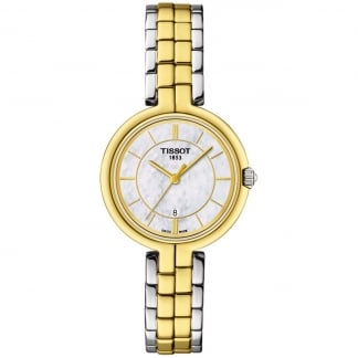 Ladies Flamingo Two Tone Watch With MOP Dial
