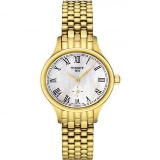 Ladies Gold Bella Ora Piccola MOP Quartz Watch T103.110.33.113.00