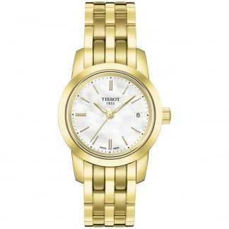 Ladies Gold Classic Dream Mother of Pearl Watch T033.210.33.111.00