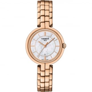 Ladies Mother of Pearl Rose Gold Flamingo Watch