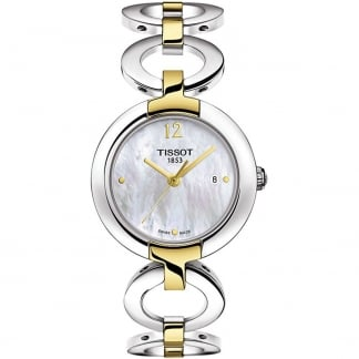 Ladies Mother of Pearl Two Tone Pinky Watch