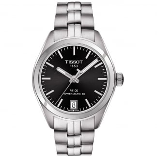 Ladies PR 100 Lady Automatic Black Dial Watch T101.207.11.051.00