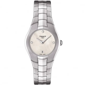 Ladies T-Round Diamond Mother of Pearl Watch