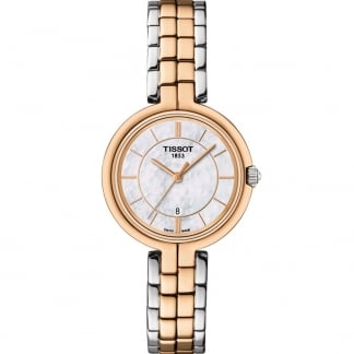 Ladies Steel & Rose Gold Flamingo Watch
