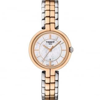 Ladies Steel & Rose Gold Flamingo Watch T094.210.22.111.00