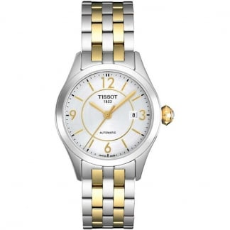 Ladies T-One Automatic Two Tone Small Lady Watch T038.007.22.037.00
