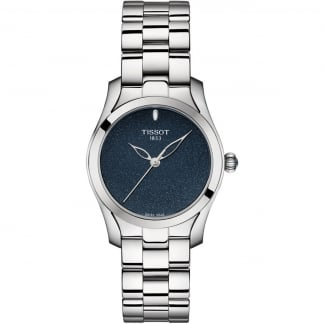 Ladies T-Wave Blue Glitter Dial Watch