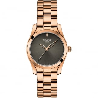 Ladies T-Wave Rose Gold Anthracite Dial Watch