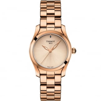 Ladies T-Wave Rose Gold Quartz Watch