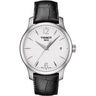 Ladies Tradition Black Leather Quartz Watch T063.210.16.037.00