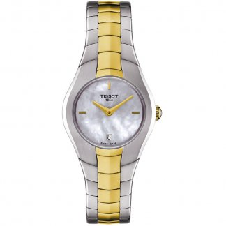 Ladies Two Tone T-Round MOP Dial Watch
