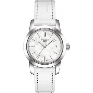 Ladies White Strap Classic Dream Quartz Watch T033.210.16.111.00