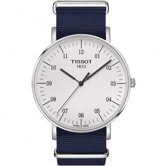 Men's 42MM Blue NATO Strap Quartz Everytime Watch T109.610.17.037.00