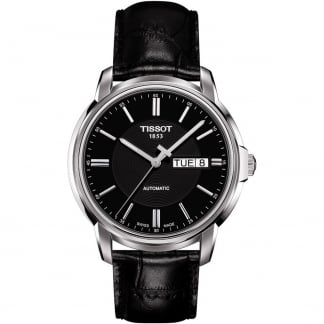 Men's Automatics III T-Classic Black Strap Watch T065.430.16.051.00
