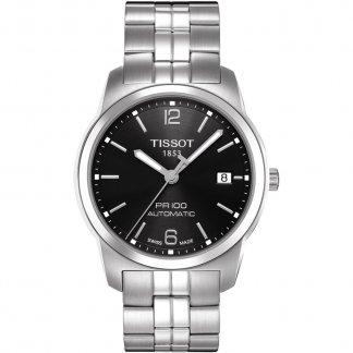Men's Black Dial PR 100 Automatic Gent Date Watch T049.407.11.057.00