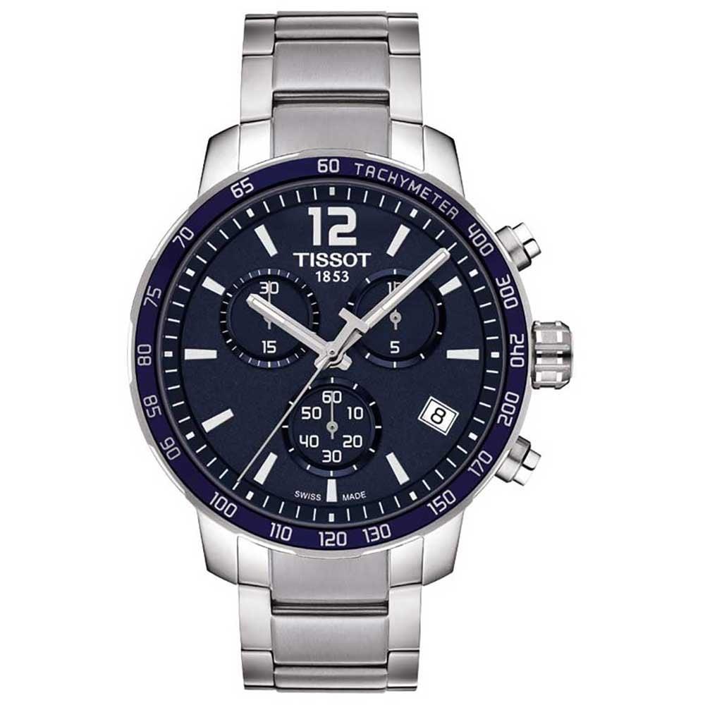 Tissot Men S Blue Dial Quickster Chronograph Watch