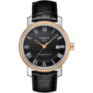 Men's Bridgeport Powermatic 80 Black Strap Watch T097.407.26.053.00
