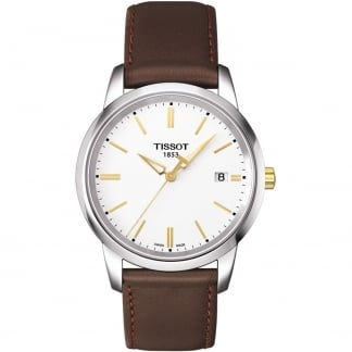 Men's Classic Dream Brown Leather Quartz Watch T033.410.26.011.01