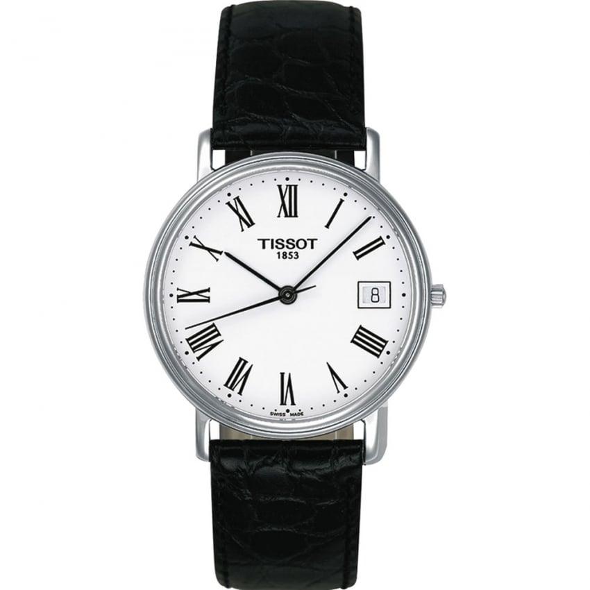 Tissot Men's Desire Gent Black Leather Quartz Watch T52.1.421.13