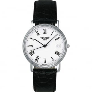 Men's Desire Gent Black Leather Quartz Watch T52.1.421.13