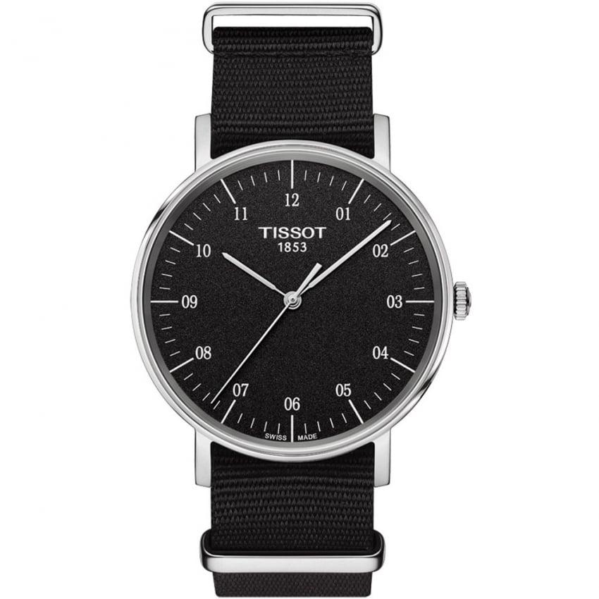Tissot Men's Everytime Quartz Black NATO Strap Watch T109.410.17.077.00