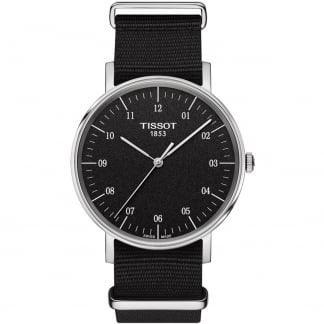 Men's Everytime Quartz Black NATO Strap Watch T109.410.17.077.00