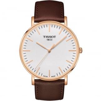 Men's Everytime Rose Gold 42MM Quartz Strap Watch T109.610.36.031.00